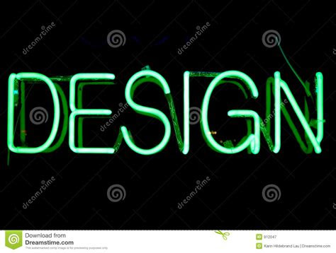 design neon sign royalty  stock photography image
