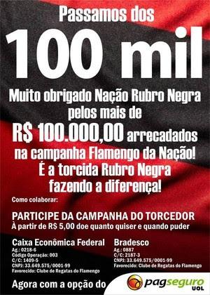 Flamengo da Nação, 100 mil (Foto: Reprodução)