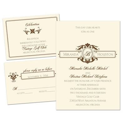 Striking Details Separate and Send Wedding Invitation