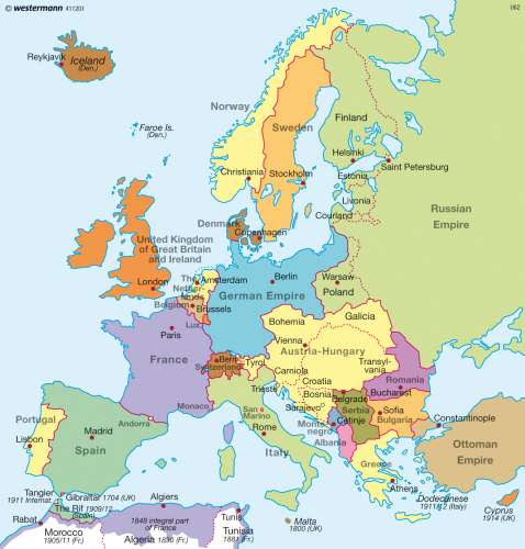 Map Of Europe Pre Ww1 United States Map   Europe Map: Map Of Europe Pre Ww1_