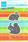 CR1340 Craftables konijn en eekhoorn Marianne Design