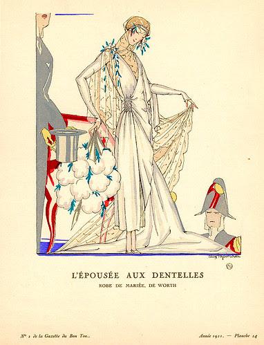 Alex Rozervriski, La Gazette au Bon Ton, L'Épousée aux Dentelles, 1921