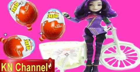 Bé Na Bóc trứng bất ngờ Kinder Surprise Egg Đồ chơi siêu nhân Búp bê Disney Mal Kids toys tập 21