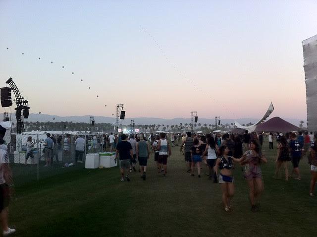 entering the festival