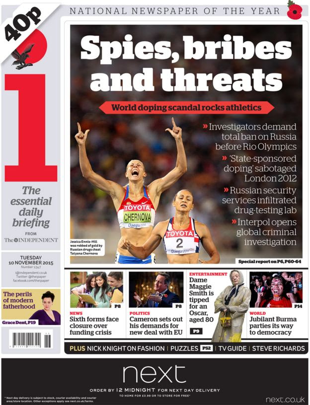 The i front page, 10/11/15