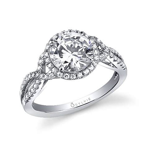 Jocelina   Spiral Engagement Ring with Halo   SY260   Sylvie