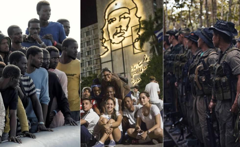 Refugiados en el Mediterráneo, 'millennials' en la Cuba post Fidel y guerrilleros de las FARC en los últimos campamentos.