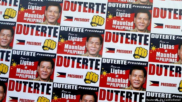 Philippinen Wahlen Unterstützer von Rodrigo Digong Duterte Ausschnitt