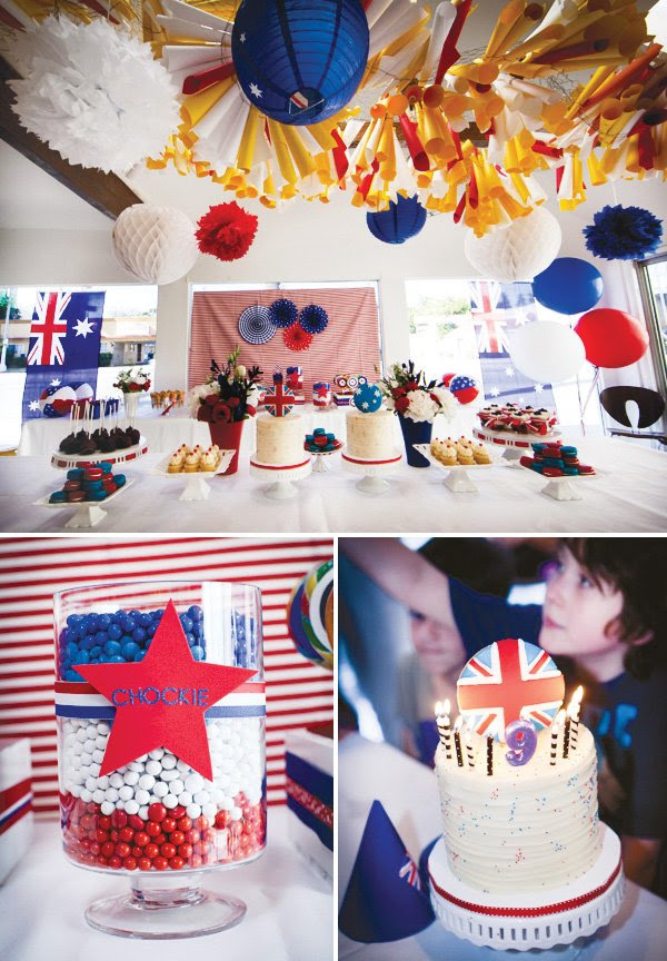 Patriotic Red White Blue Aussie Party Hostess With The Mostess