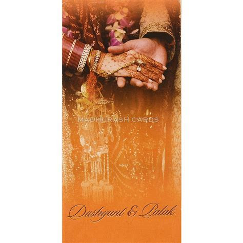 HWC 7478: Hindu Marriage Invitation with Background