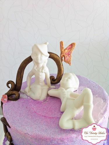 Ombre Fantasy Wedding cake-5