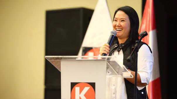 Keiko Fujimori participa activamente del cónclave de Fuerza Popular.