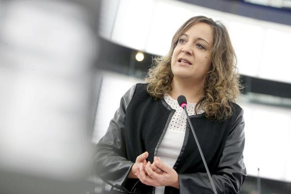 La eurodiputada socialista española Iratxe García Pérez, Presidenta de la Comisión de Derechos de la Mujer e Igualdad de Género .