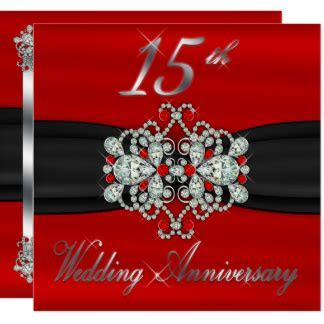 15th Anniversary Invitations & Announcements   Zazzle