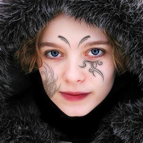 face tattoo designs girls