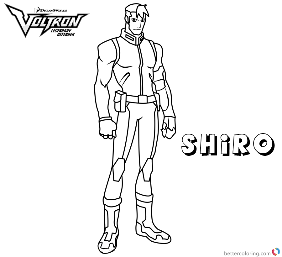 voltron coloring pages Shiro