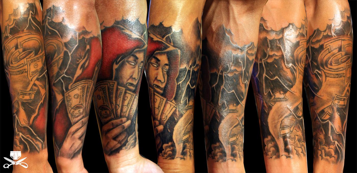 Money Stack Tattoo