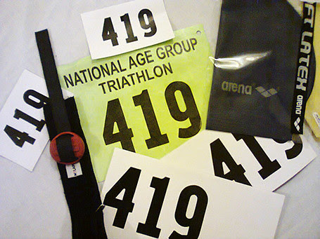 triathlon race pack
