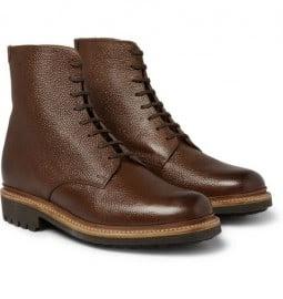 Grenson Hadley Pebble Grain Leather Boots