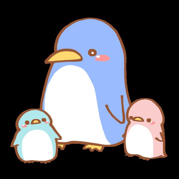 親子ペンギンのイラスト かわいいフリー素材が無料のイラストレイン