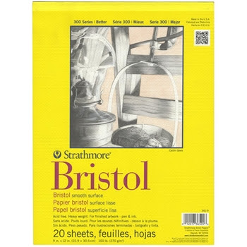 Strathmore BRISTOL SMOOTH 9 x 12 Paper Pad 365096