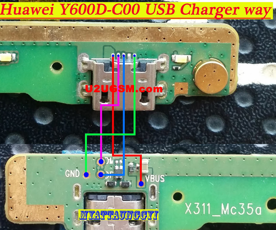 Huawei Y600D-C00 Usb Charging Problem Solution Jumper Ways