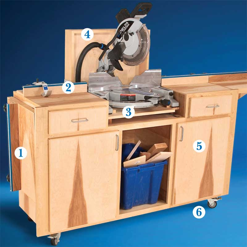 AW Extra 6/6/13 - Mobile Miter Saw Stand - Popular Woodworking