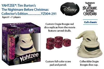 Board Games: Nightmare Before Christmas - Oogie Boogie Yahtzee ...