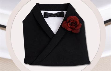 Wedding DIY   Tuxedo Napkin Fold   Modern Wedding