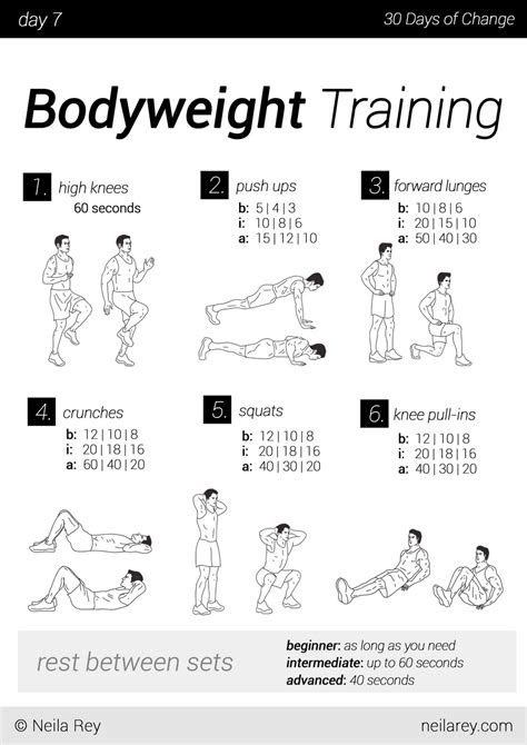workout schedule  men