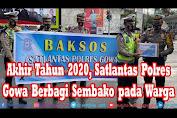 Akhir Tahun 2020, Satlantas Polres Gowa Berbagi Sembako pada Warga Prasejahtera