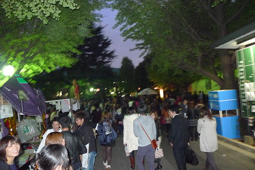 Waseda Festival after the sunset