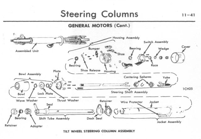 Exploded View Of Steering Column The 1947 Present Chevrolet Gmc Truck Message Board Network