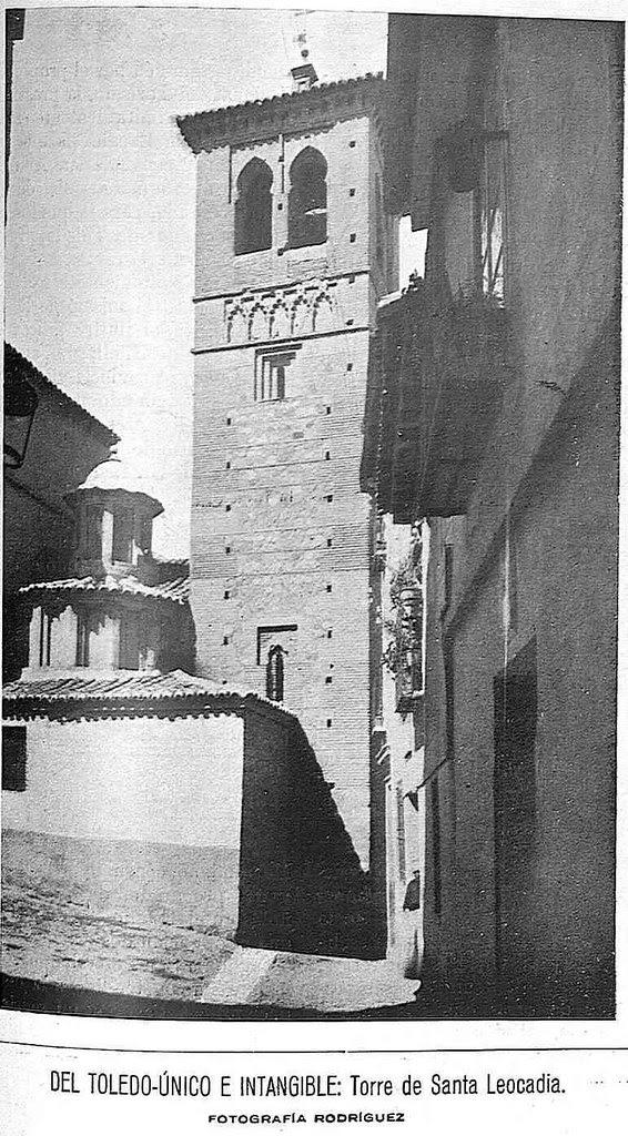 Iglesia de Santa Leocadia. Fotografía de Rodríguez publicada en agosto de 1929 en la Revista Toledo