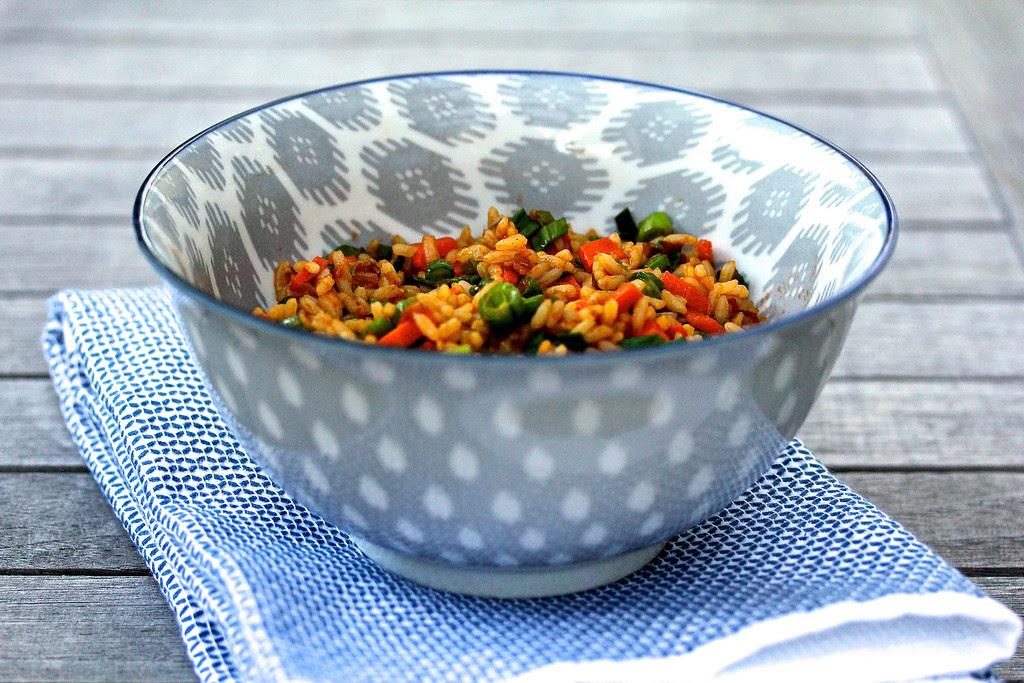 Chinese Indian Vegetarian Fried Rice