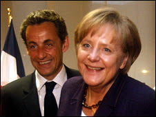 Nicolas Sarkozy and Angela Merkel (7 May 2010)