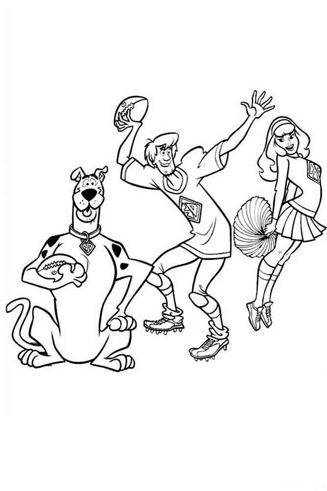 Scooby Doo 4 ücretsiz Boyama Resimleri
