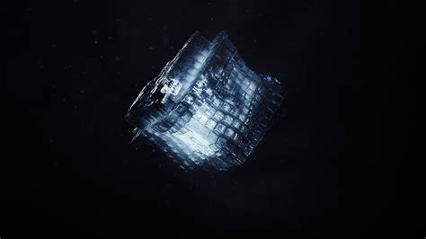 wallpaper render shape cube dark cgi hd abstract