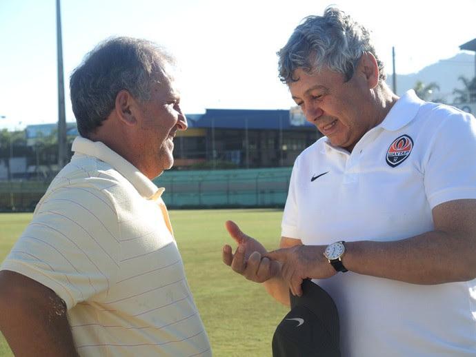 Zico recebe o Shakhtar no CFZ (Foto: Cintia Barlem)