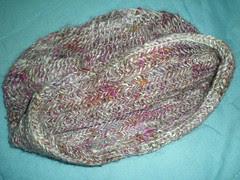 Nalbound hat -- hem