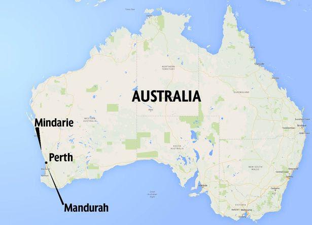 Shark Attack map western Australia
