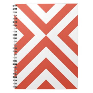 Orange and White Chevrons fuji_notebook