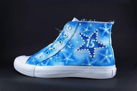 converse quince shoes in blue   Quincenera   Pinterest