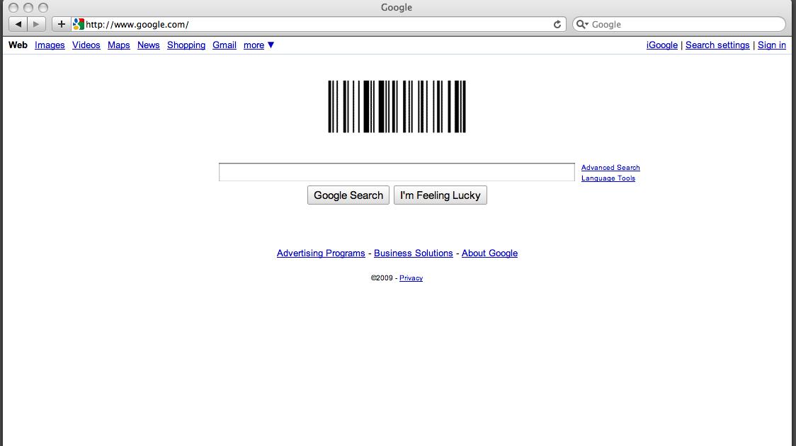 . finkerdoodles  google barcode logo