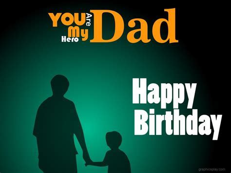 Happy Birthday Dad Greeting   GraphicsPlay