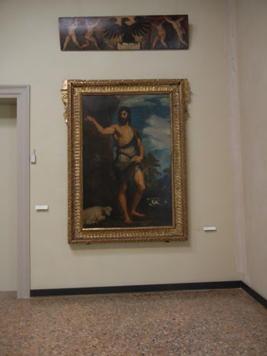 DSCN2682 _ John the Baptist, Titian, c. 1542, Gallerie dell'Accademia, 15 October