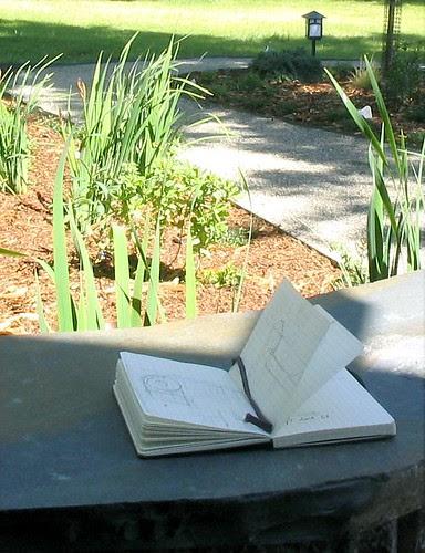 Moleskine in the Garden
