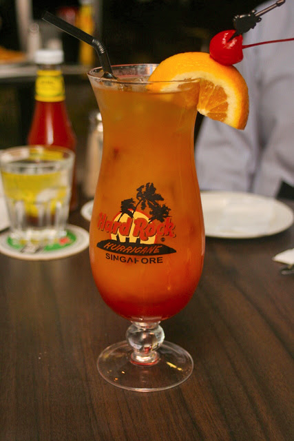 The Hurricane - Hard Rock Cafe's signature drink, and our favourite of the evening too!