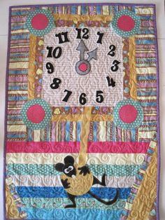Cute clock quilt