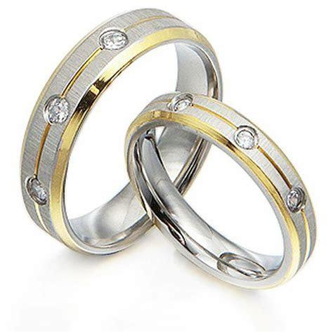 Groom&Bride 18K Gold Diamonds Matching Wedding Bands